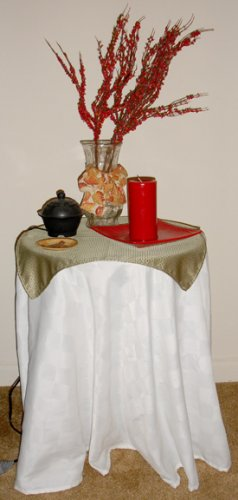 oblong table cloth (white)