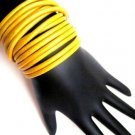 Leather Wrap Bracelet-Yellow