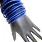 Leather Wrap Bracelet-Blue