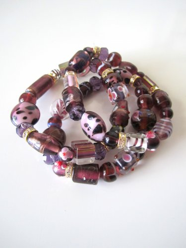 *SALE* Candy Bead Mix Bracelet-Purple