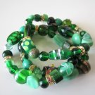 *SALE* Candy Bead Mix Bracelet-Green
