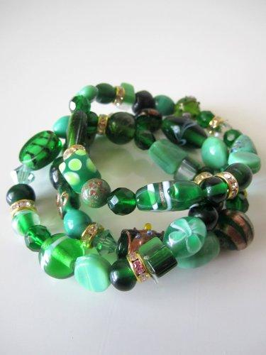 *SALE* Candy Bead Mix Bracelet-Green