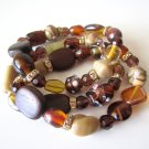 *SALE* Candy Bead Mix Bracelet-Brown