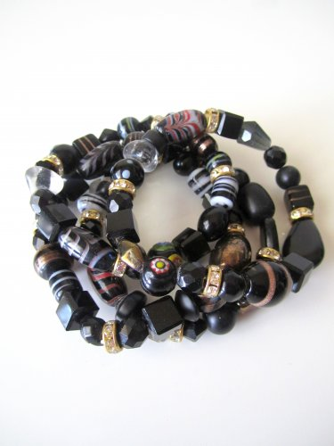 *SALE* Candy Bead Mix Bracelet-Black