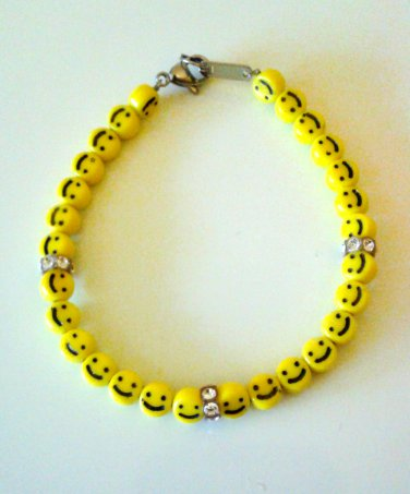 Swarovski Crystal Smiley Face Bracelet