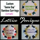 "Small ""Game Day"" Sport Team Bamboo Earrings"