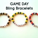 """Game Day"" Sport Team Beaded Bling Bracelet"