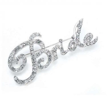 """Crystal """"Bride"""" Pin 