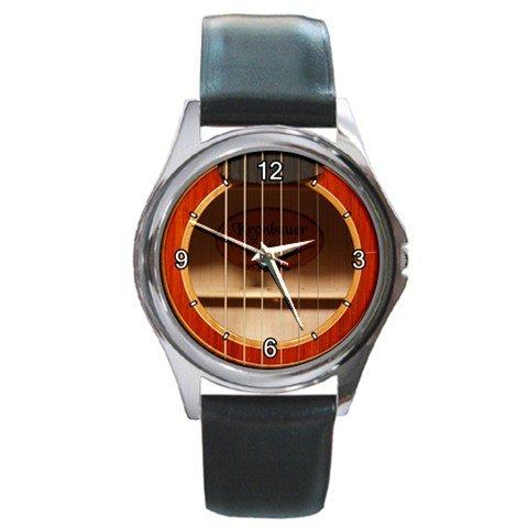 Soundhole Kronbauer TDK-137 Guitar Style Round Metal Watch