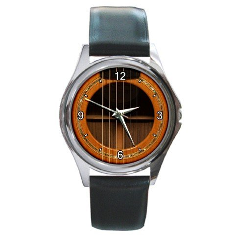 Soundhole Lowden F-25C Guitar Style Round Metal Watch