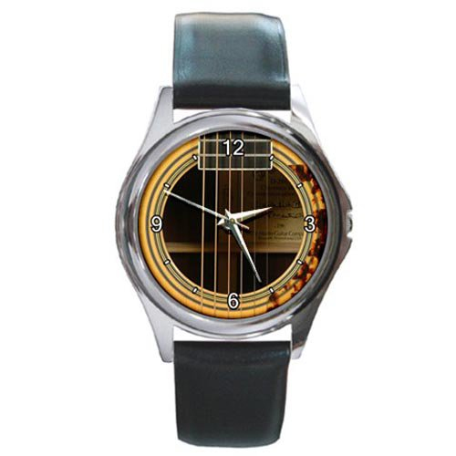 Soundhole Martin D-28CW Clarence White Special Edition Guitar Style Round Metal Watch