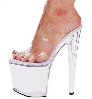 """821-COCO, 8"""" Heel Stripper Mule in Size 8 (US)"""