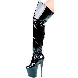 "821-CASINO, 8"" Heel Thigh High Boot in Size 7 (US)"