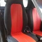Fits SMART FORTWO 2007-2014 451 MIX LEATHERETTE & SYNTHETIC TWO RED/BLACK CAR SEAT COVERS