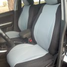 Fits MERCEDES E-Class 1995-2002 MIX LEATHERETTE & SYNTHETIC TWO FRONT GRAY/BLACK CAR SEAT COVERS