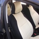 Fits FIAT BRAVO 2007-NOW MIX LEATHERETTE & SYNTHETIC TWO FRONT SUGAR/BLACK CAR SEAT COVERS