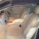 MIX LEATHERETTE and SYNTHETIC TWO FRONT TAN CUSTOM CAR SEAT COVERS (Fits MERCEDES CLK-Class W209)
