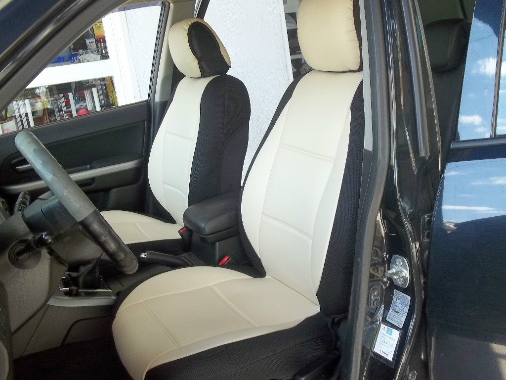 Fits VW GOLF 2009-2013 3 DRS MK6  MIX LEATHERETTE & SYNTHETIC TWO FRONT SUGAR BLACK CAR SEAT COVERS