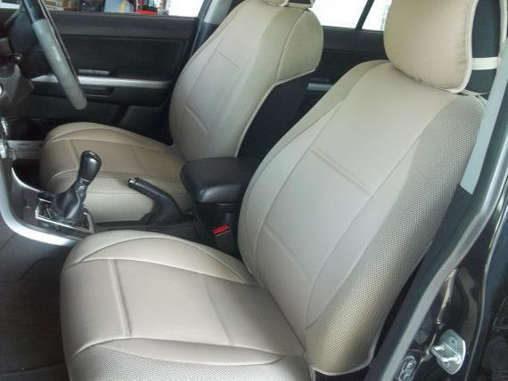 VW GOLF 2006-2010 3 Drs MK5 MIX LEATHERETTE & SYNTHETIC TWO FRONT CUSTOM TAN (BEIGE) CAR SEAT COVERS