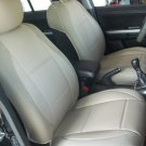 VW AMAROK MIX LEATHERETTE & SYNTHETIC TWO FRONT CUSTOM TAN (BEIGE) CAR SEAT COVERS