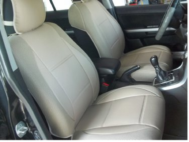 MERCEDES C-Class 2007-2013 W204 MIX LEATHERETTE & SYNTHETIC TWO FRONT CAR SEAT COVERS