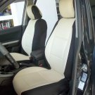 SUBARU XV CROSSTREK MIX LEATHERETTE & SYNTHETIC TWO FRONT CUSTOM SUGAR/BLACK CAR SEAT COVERS