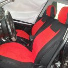 BMW 3 E36 CONVERTIBLE MIX COTTON TOWEL & SYNTHETIC TWO FRONT RED BLACK CAR SEAT COVERS