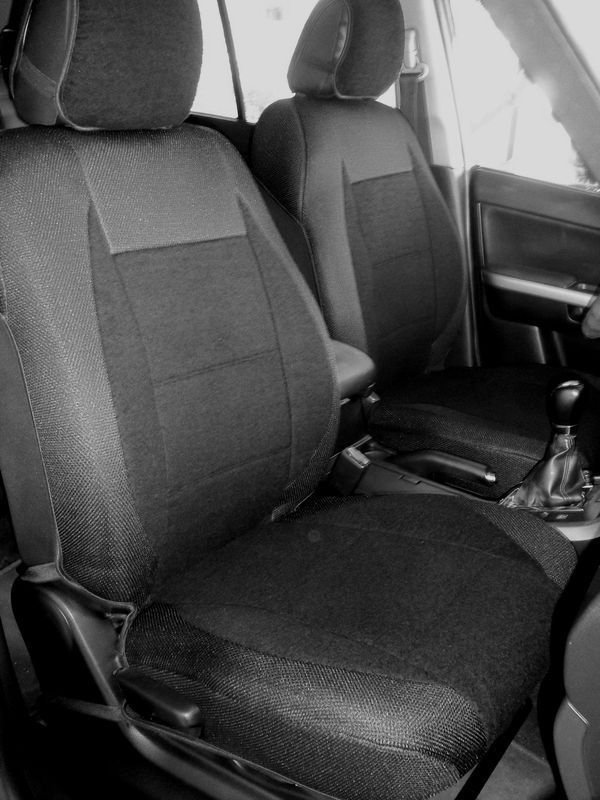 Toyota RAV4 2005�2012 MIX COTTON TOWEL & SYNTHETIC TWO FRONT BLACK CAR SEAT COVERS