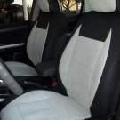 LAND ROVER FREELANDER-2 MIX COTTON TOWEL & SYNTHETIC TWO FRONT GREY BLACK CAR SEAT COVERS