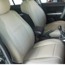 LEATHERETTE & SYNTHETIC TWO FRONT TAN (BEIGE) CAR SEAT COVERS (Fits AUDI A4 2008-2015)