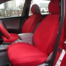 TWO FRONT CUSTOM RED VELOUR SYNTHETIC CAR SEAT COVERS (Fits AUDI A4 2008-2015)