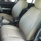 LEATHERETTE & SYNTHETIC TWO FRONT TAN (BEIGE) CAR SEAT COVERS (Fits HONDA CR-V 2012-Now)