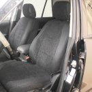 BMW 1 Series E87 2004–2011 TWO FRONT CUSTOM BLACK VELOUR SYNTHETIC CAR SEAT COVERS
