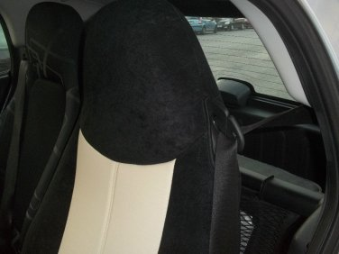 Fits SMART FORTWO 1998-2007 450 MIX LEATHERETTE & VELOUR TWO SUGAR/BLACK CAR SEAT COVERS