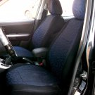 Peugeot 407 4/5 doors two Front Fancy Cotton & Synthetic Blue/Black (K44) Car Seat Covers