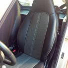 Fits SMART FORTWO 2007-2014 MIX LEATHERETTE & TWO TONE SYNTHETIC FISHNET TWO CAR SEAT COVERS