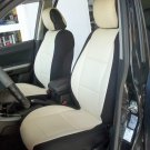 NEW FIAT 500 2door MIX LEATHERETTE & SYNTHETIC TWO FRONT SUGAR BLACK CAR SEAT COVERS