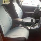 NEW FIAT 500 2door MIX LEATHERETTE & SYNTHETIC TWO FRONT GRAY BLACK CAR SEAT COVERS