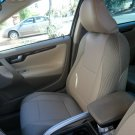 MIX LEATHERETTE & SYNTHETIC TWO FRONT TAN (BEIGE) CAR SEAT COVERS Fits VOLVO 850 940 960