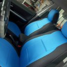 TWO FRONT CUSTOM BLUE/BLACK DIAMOND SYNTHETIC CAR SEAT COVERS (Fits SUBARU IMPREZA 2012-..... )