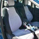 SUBARU IMPREZA 2012-..... TWO FRONT CUSTOM VELOUR GRAY BLACK CAR SEAT COVERS