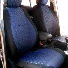 VW PASSAT 2006–2014 two Front Fancy Cotton & Synthetic Blue Black (K44) Car Seat Covers