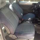 MIX LEATHERETTE & SYNTHETIC TWO FRONT CUSTOM GRAY CAR SEAT COVERS (Fits VW BEETLE 1998-2002)