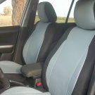 MIX LEATHERETTE & SYNTHETIC TWO FRONT GREY BLACK CAR SEAT COVERS (Fits BMW COUPE (E92) 2007-2011)