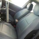 Toyota Sienna XL30 2010–present MIX LEATHERETTE & SYNTHETIC TWO FRONT GRAY CAR SEAT COVERS