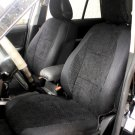 LAND ROVER FREELANDER 2 2006-Now TWO FRONT CUSTOM VELOUR BLACK CAR SEAT COVERS