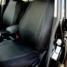 MIX LEATHERETTE & SYNTHETIC TWO FRONT BLACK CAR SEAT COVERS fits BMW 5 Series E39 1995-2003
