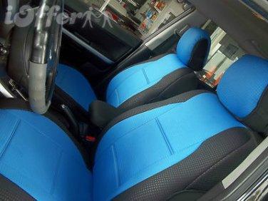 Mercedes E-CLASS 2003-2009 W211 TWO FRONT CUSTOM BLUE BLACK DIAMOND CAR SEAT COVERS