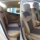 VW PASSAT 2010-2014 MIX LEATHERETTE & SYNTHETIC FRONT REAR CUSTOM TAN BLACK CAR SEAT COVERS