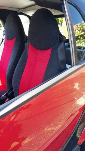 Fits SMART FORTWO 2007-2014 451 TWO FRONT CUSTOM SYNTHETIC AND VELOUR CAR SEAT COVERS